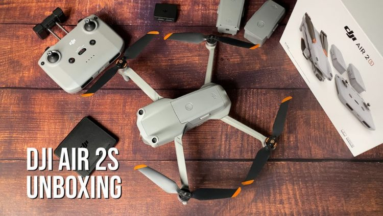 DJI Air 2S fly more combo drone unboxing, setup, and first flight