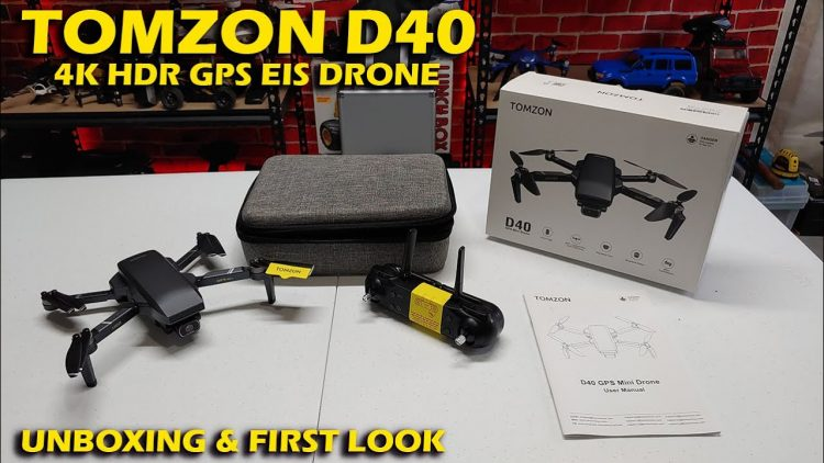 Only 243g, Tomzon D40 4K HDR GPS Drone with EIS Unboxing & First Look