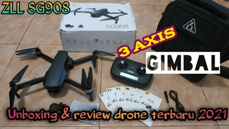 Drone Terbaru 2021 : ZLL SG908 (unboxing & review)
