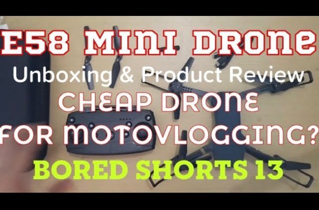 E58 Mini Drone Unboxing & Product Review – BOREd Shorts 13