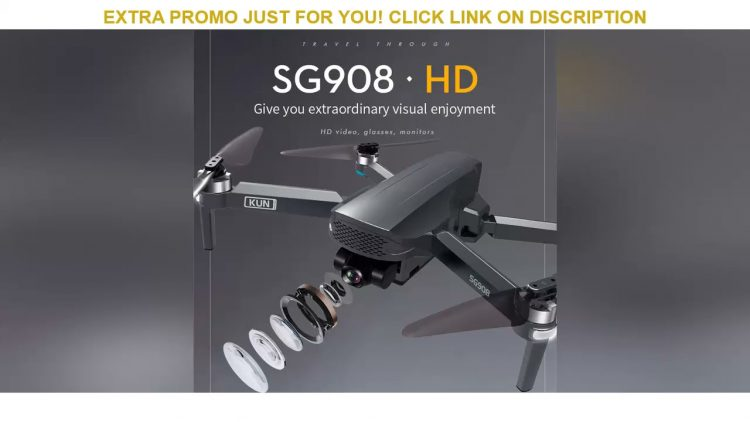 Review 2021 NEW SG908 Drone 3-Axis Gimbal 4K Camera 5G Wifi GPS FPV Profesional Dron 50X Foldable Q