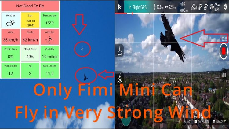 Extra Strong Drone! Only Fimi Mini Can Fly in Strong Winds and Gusts of 62 KM/h (more than level 6