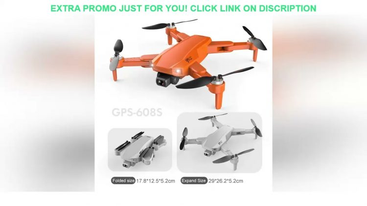 Review New S608 GPS Drone 6K  4k  Dual HD Camera Professional Aerial Photography wifi FPV Brushless