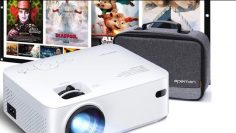 APEMAN Mini Projector 200 Max Display 60000 Hrs Lamp Life Carry Bag and 100'' Screen Included Review