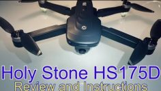 Holy Stone HS175D..Just Released 4K Camera GPS Foldable Drone! 2 batteries and a great case for $189