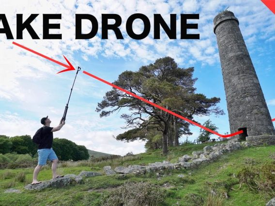 How To FAKE a DRONE SHOT with YOUR PHONE | Mobile Filmmaking Tips For Beginners